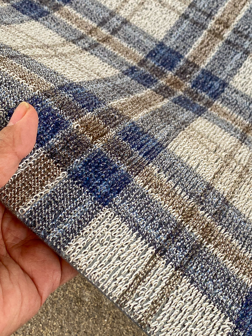 plaid outdoor mat, plaid welcome mat, plaid outdoor rug, modern plaid rug