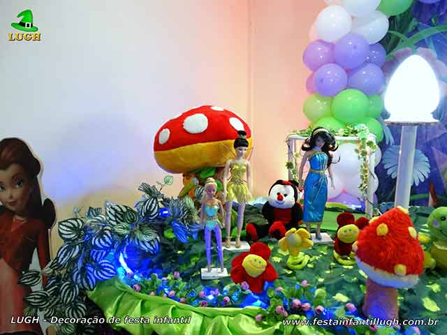 Mesa de aniversário infantil tema Tinker Bell (Sininho)