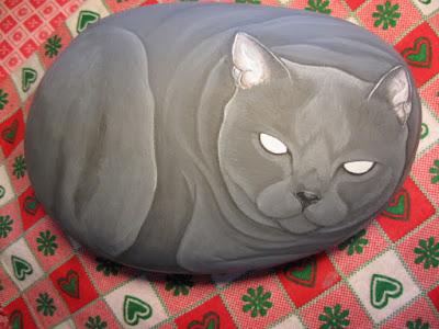 Sassi dipinti lezioni pittura gatti tutorial foto