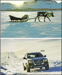 FIGURE 1 A Volvo occasion-specific advertising campaign telling consumers that Santa Claus has replaced Rudolph the Reindeer with a Volvo XC90 Source : Volvo Personbiler Norge AS/TWBA.