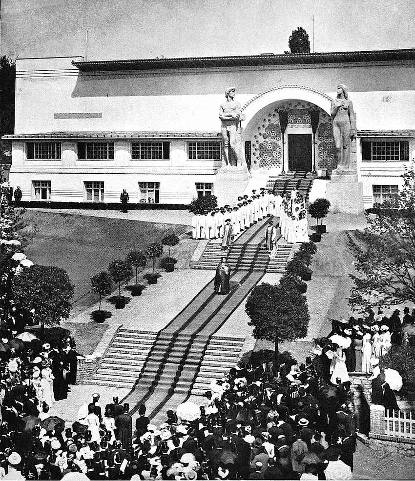 Secession Building in Vienna, 1901 ceremony photograph