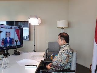 Menteri Suharso Memberikan Sambutan pada Peluncuran Laporan Tahunan Ombudsman RI 2020