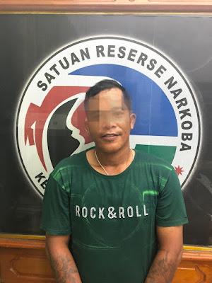 Bandar Sabu Asal Pulau Temiang Diamankan Polisi di Loket RAPI Rimbo Bujang