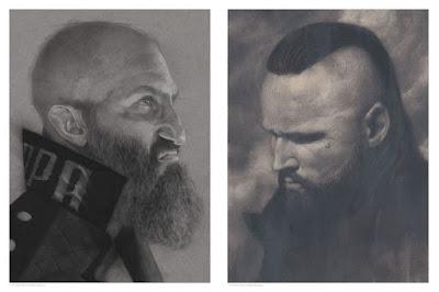 WWE Tommaso Ciampa & Aleister Black Portrait Prints by Randy Ortiz x Mondo