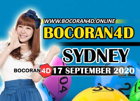 Bocoran Togel 4D Sydney 17 September 2020