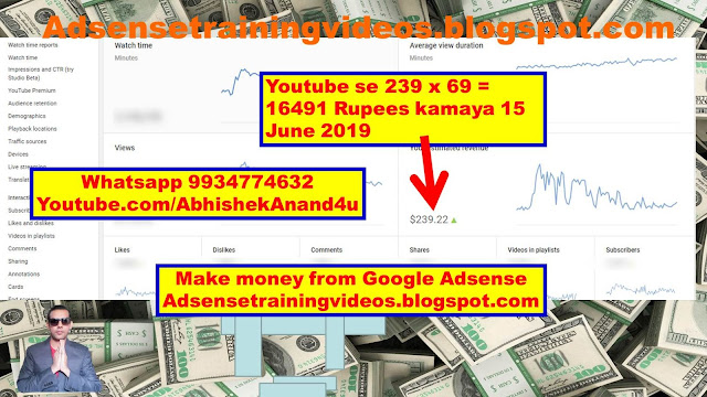 Youtube income proof of 16491 rupees Monthly 15 june 2019 | Google adsense payment proof of 16491 rupees monthly 15 june 2019 | Website se paise kaise kamaye | Google payment proof