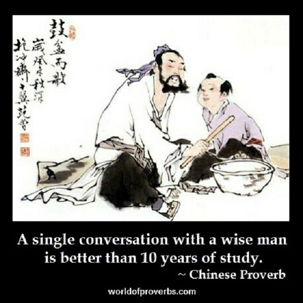 World of Proverbs: A single conversation with a wise man ...