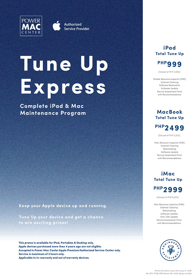 Power Mac Center Offers Discounted Tune Up Express For iPad And Mac This Whole Month Of July 2016!