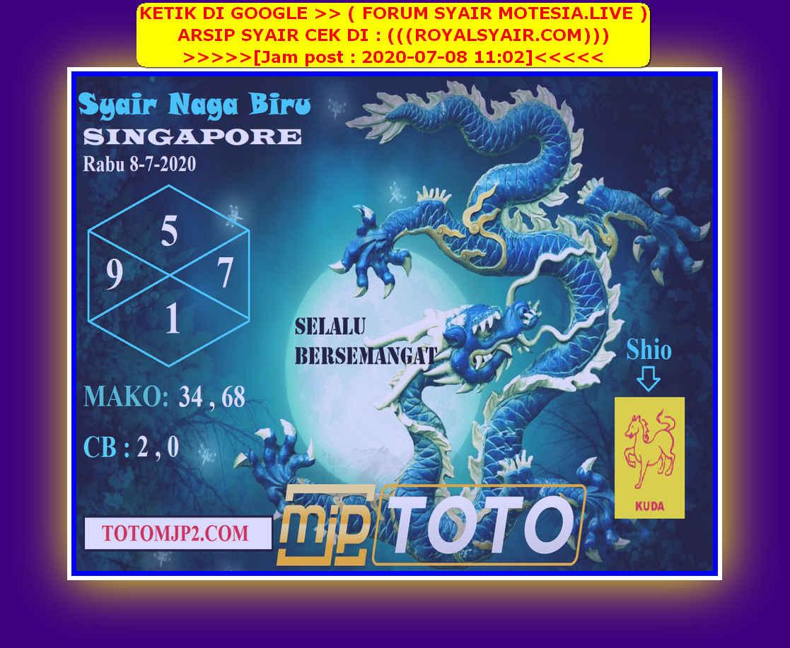 Kode syair Singapore Rabu 8 Juli 2020 85