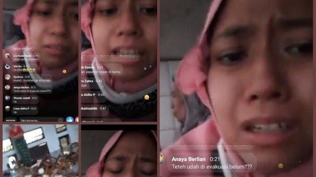 Viral Kisah Gadis Terjebak Banjir di Subang, Minta Pertolongan saat Live Streaming di Facebook
