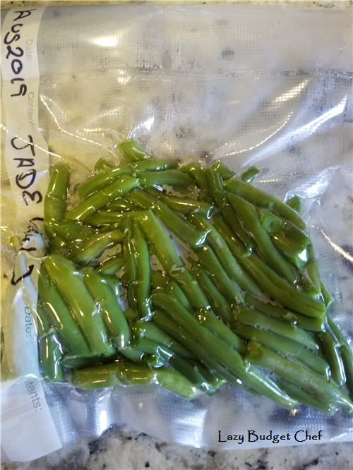 how to freeze green beans without freezer burn