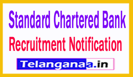 Standard Chartered Bank Recruitment Notification 2018