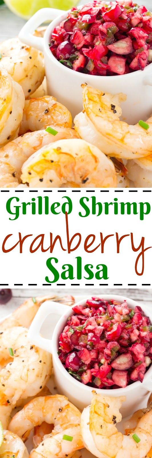 Cranberry Salsa with Grilled Shrimp