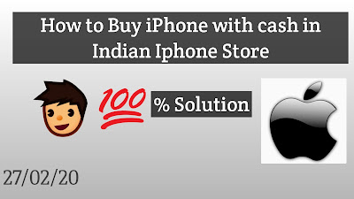 How to Buy iPhone with cash in India