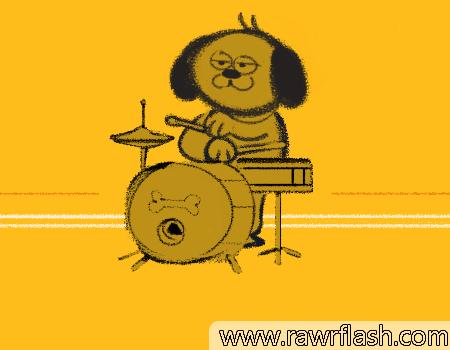Bark Beat: um joguinho de música com um cachorro baterista.
