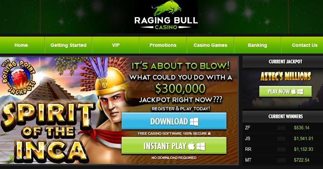 raging bull casino live chat