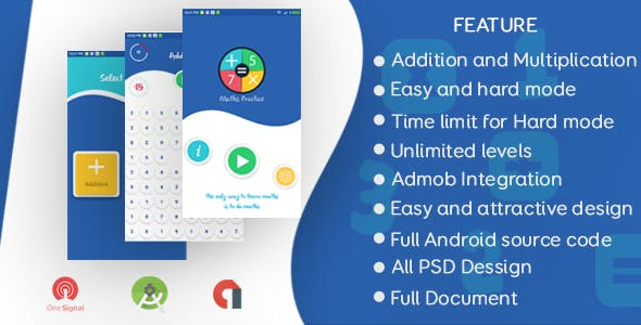 Maths Practice Mobile App - Codelistnull | CodeCanyon Scripts Nulled