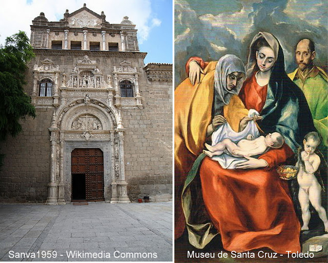 """Museu de Santa Cruz, em Toledo, e a tela """"A Sagrada Família"""", de El Greco"""