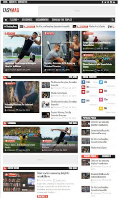 Easy Mag Adsense Responsive Blogger Templates Without Footer Credit