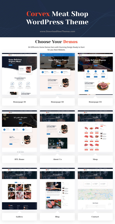 Butcher & Meat Shop WordPress Theme + RTL