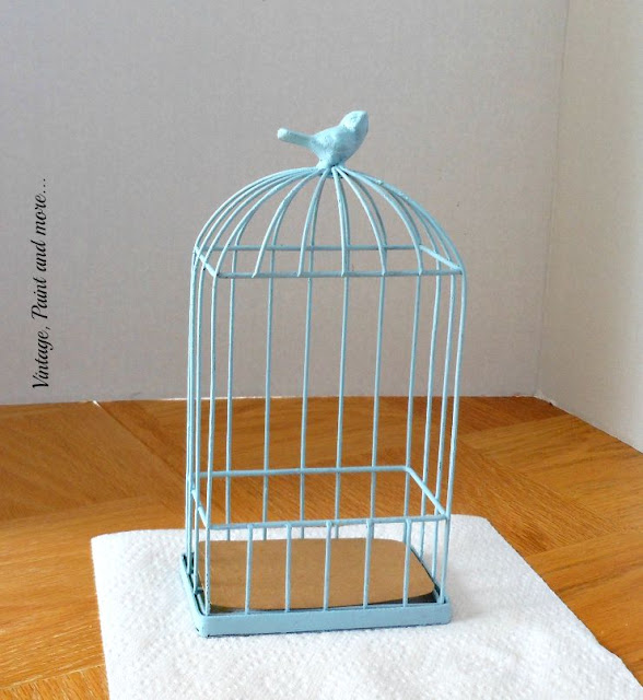 Vintage, Paint and more... wire bird cage upcycled with paint