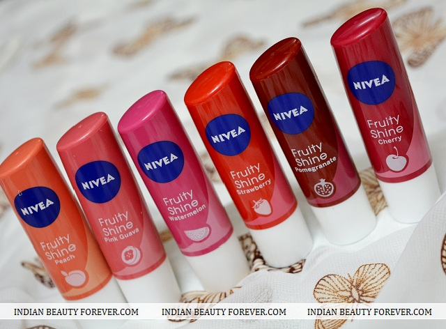 Nivea Fruity Shine Lip Balms Swatches And Review Price