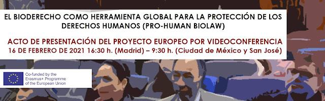 Jornada de divulgación del proyecto PRO HUMAN BIOLAW