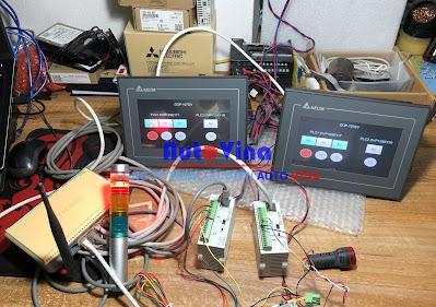Kết nối cùng lúc nhiều màn hình HMI Delta DOP-107DV và DOP-107EV với nhiều PLC Delta DVP12SE11R và DVP12SE11T