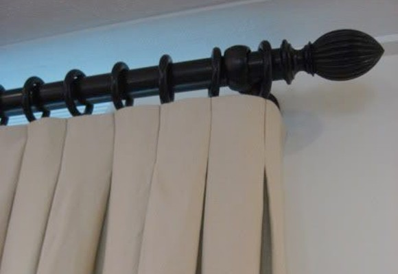 Cortinas con tablas invertidas