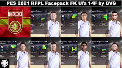 PES 2021 RFPL Facepack FK Ufa 14F by BVG