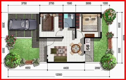 Konsep Terkini 10+ Denah Rumah Minimalis 2 Lantai Type 36/72