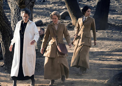 Susanna Thompson, Kim Bubbs and Abigail Spencer in Timeless Season 2
