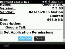 Google Talk Blackberry