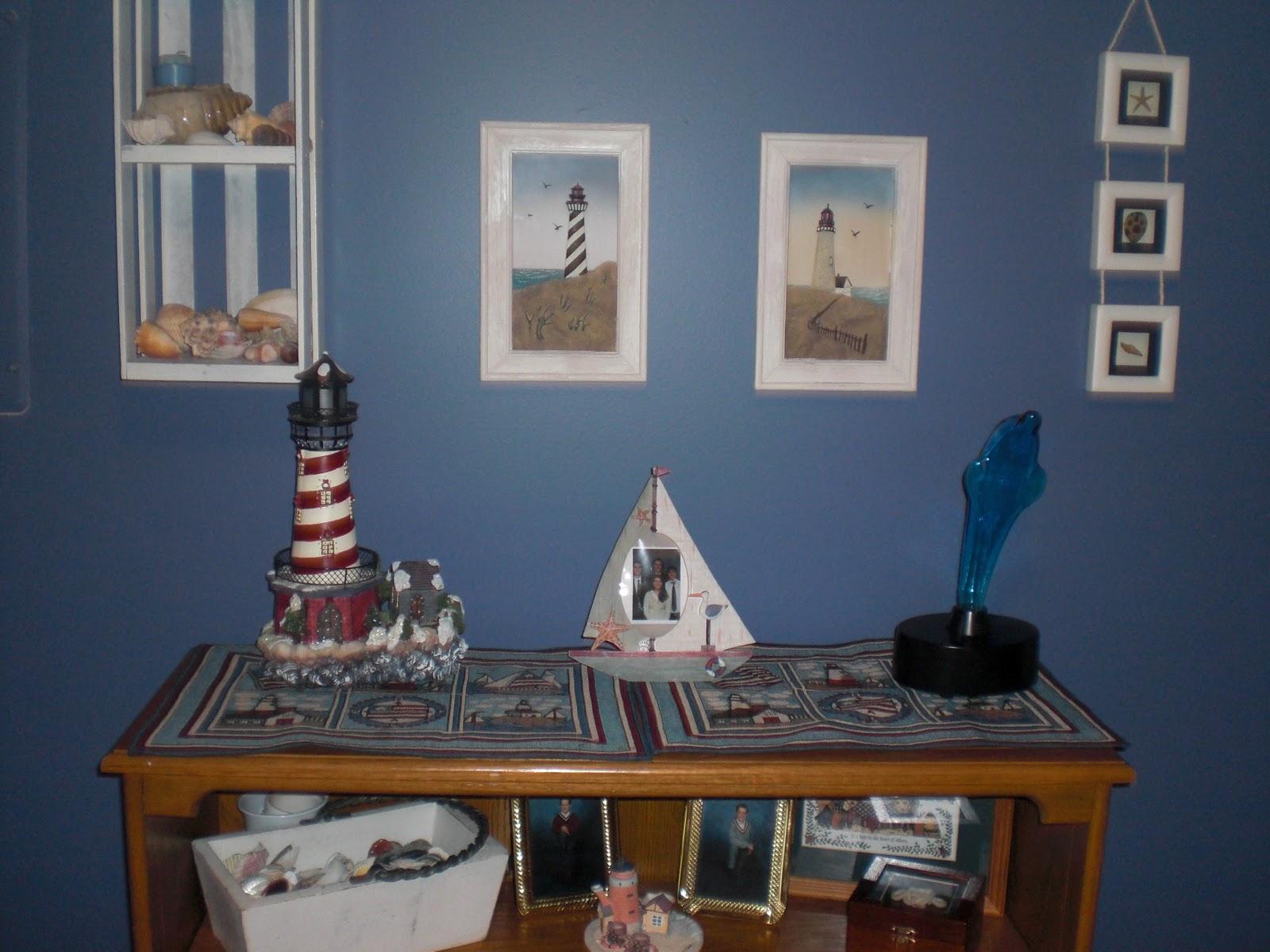 Lighthous Bathroom Decor Ideas: Pattie's Place: Beachy Bedroom Redo