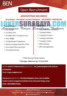 Info Lowongan Kerja Surabaya Terbaru di PT. GOS Indoraya Juni 2019
