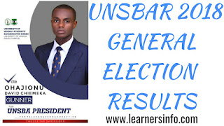 LAWSA 2018 ELECTION RESULTS, UNIVERSITY OF NIGERIA