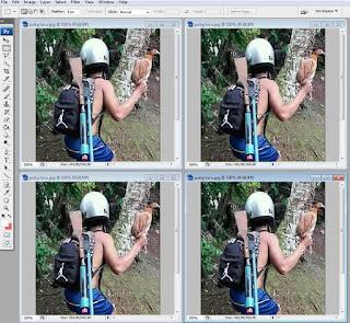 Cara Membuka 2 Foto/Gambar Yg Sama Secara Bersamaan Di Photoshop