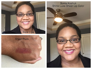 Sonia Kashuk Shine Luxe - Sheer Plum on dark skin