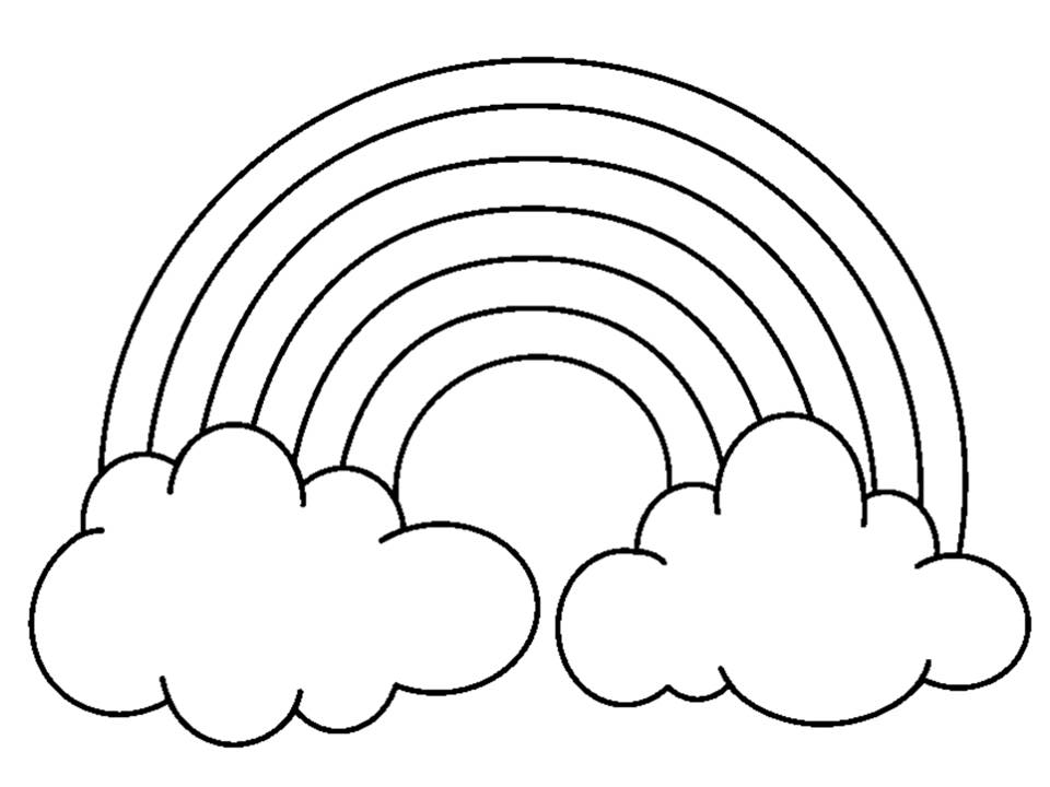 Preschool number coloring pages 13 coloring pages for Rainbow coloring page for preschool