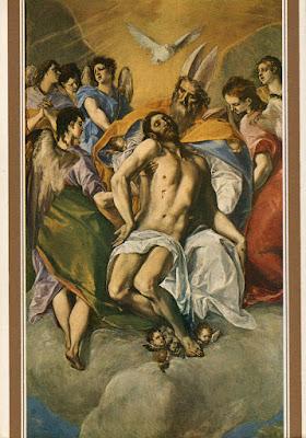 Postal de Museo del Prado, La Trinidad, El Greco. Editorial Escudo de Oro