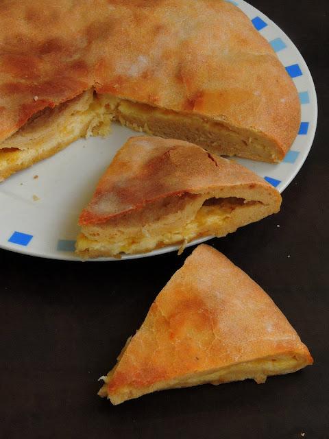 Imeruli Cheese Flatbread,Georgian Cheese Khachapuri