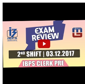 Exam Review with Cut Off | IBPS Clerk Pre 2017 | 3rd Dec - 2nd Shift