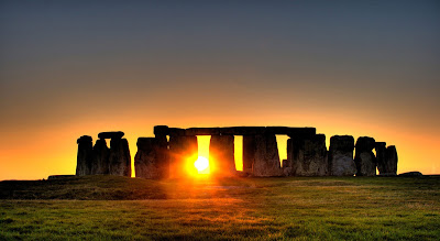 Papel de Parede Amanhecer em Stonehenge
