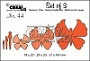 Set van 4 stansen om 3 vlinders te maken (1 stans voor het lijfje). Set of 4 dies to make 3 butterflies (1 die for the body).
