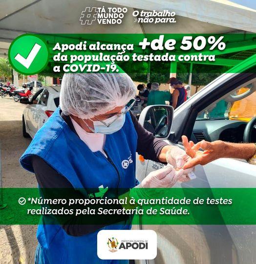 A Prefeitura Municipal de Apodi tem realizado um trabalho intensivo de testagem para COVID.