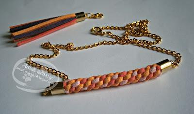 naszyjnik diy ze sznurków