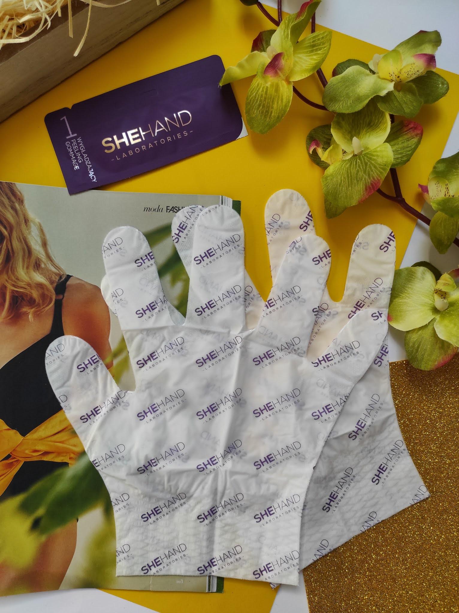 Rękawiczki odmładzające. Zabieg regenerujący dłonie She Hand