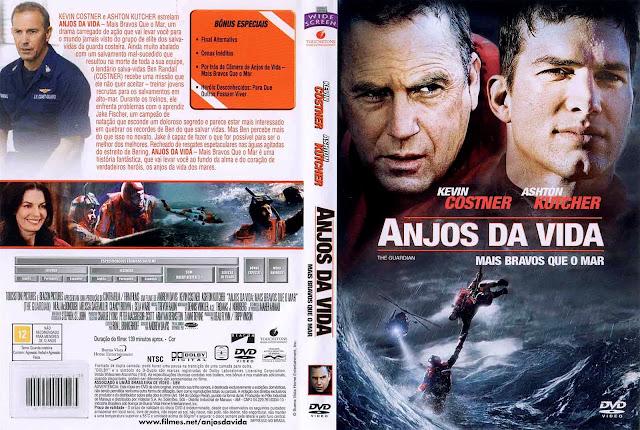 Capa DVD Anjos da Vida - Mais Bravos que o Mar