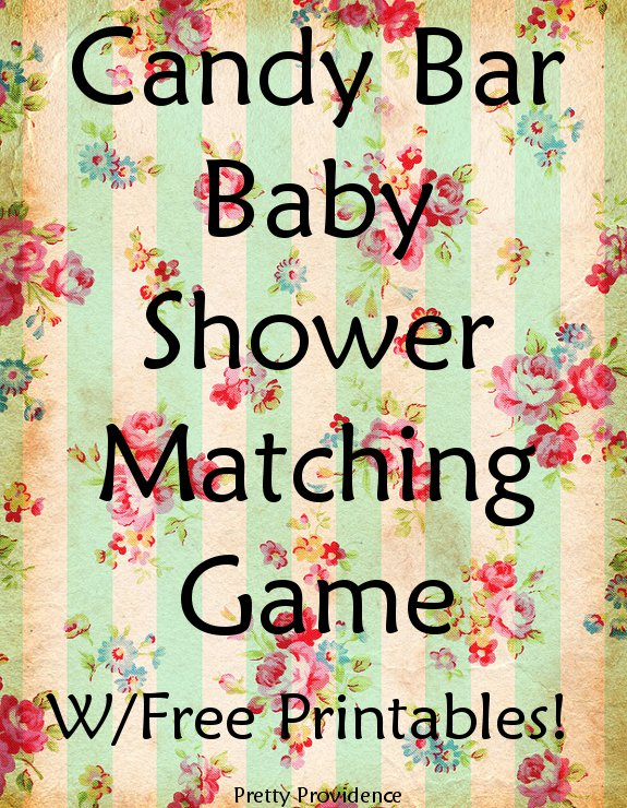 Peaceful image within baby shower candy bar game printable