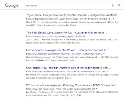 """Google search on name """"Ian Wiskin"""" in Watergate mire"""